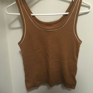 Brown cropped tank top